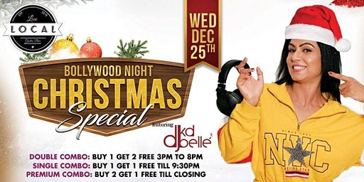 Wednesday Christmas Special Bollywood Night with Dj Kd Belle
