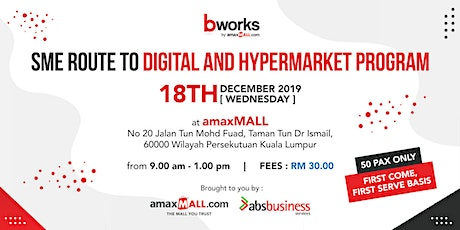SME ROUTE TO DIGITAL AND HYPERMARKET WORKSHOP tickets