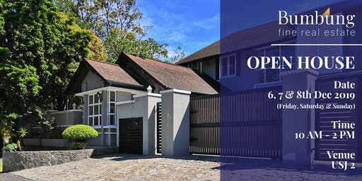 6,7 & 8 Dec 2019 | Property Tour at USJ 2, Open House Event by Bumbung.co