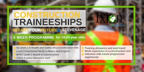 Construction Traineeships for 19-24 year olds in Stevenage tickets