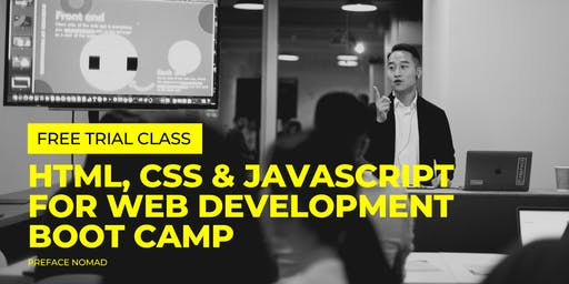 [Free Trial Class] HTML, CSS & JavaScript for Web Development Boot Camp