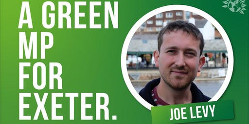Elect Joe Levy as Green MP- Eve of poll leafleting in Exeter St David's