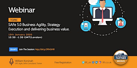 SAFe 5.0 Business Agility, Strategy Execution and Delivering Business Value tickets