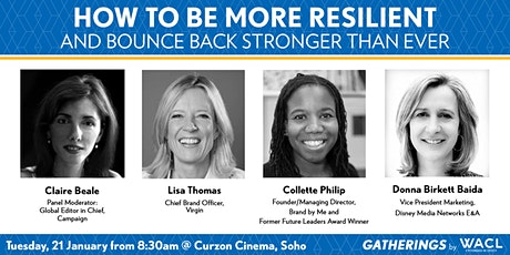 How to be more resilient and bounce back stronger than ever tickets
