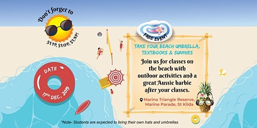 Beach Classes and Volleyball + BBQ
