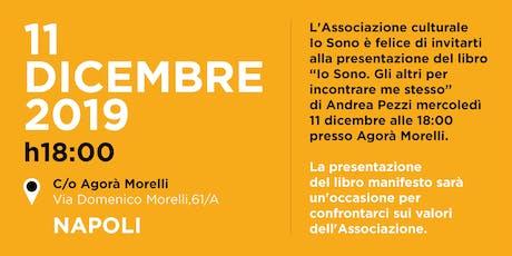 Presentazione libro di Andrea Pezzi IO SONO biglietti