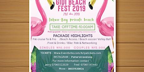 GIDI BEACH FEST tickets