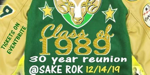 Rancho High School Class of '89 ~ 30 Year Reunion