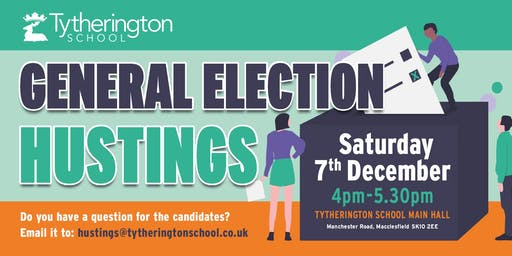 Macclesfield General Election Hustings (All welcome, particularly U30s)