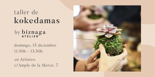 Crea tu Kokedama de Suculenta con Biznaga Atelier - colabora Artisteo.
