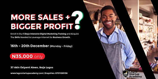 More Sales + Bigger Training with Digital Marketing Training