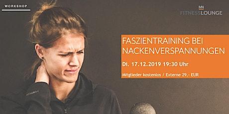 Faszientraining bei Nackenverspannungen Tickets