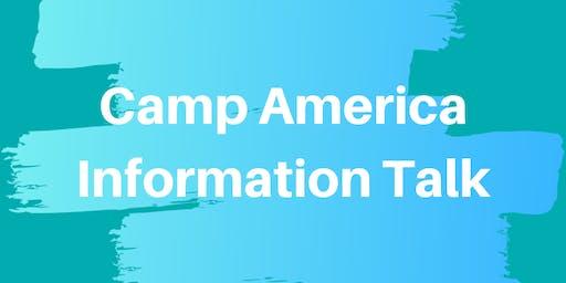 Camp America Presentation and Information Event