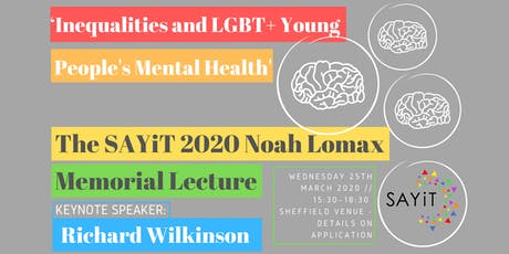 The SAYiT 2020 Noah Lomax Memorial Lecture tickets