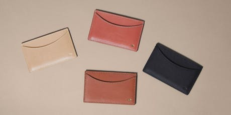 Leathercraft: Make A Card Wallet with Simétrie [January 2020] tickets