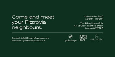 Fitzrovia Business Hub - 13th October