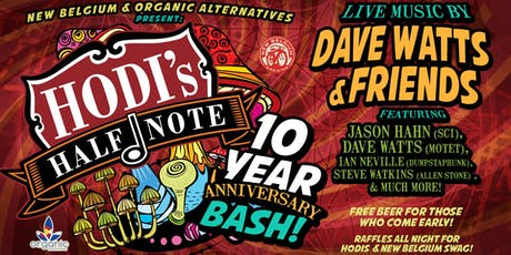 New Belgium & Organic Alternatives Present: Hodi's 10 Year Anniversary Bash tickets