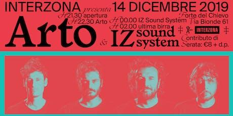 Arto live a Interzona (c/o Forte Chievo) biglietti