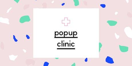 Website Popup Clinic tickets