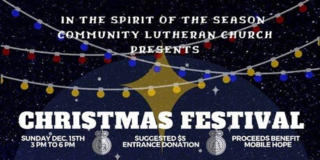 Christmas Festival of Light and Hope tickets