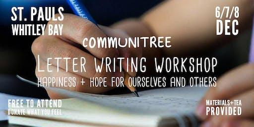 Letter Writing workshop @ Communitree Christmas Courtyard