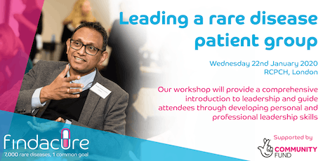 Workshop: leading a rare patient group tickets
