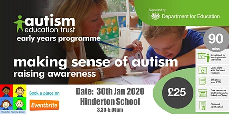 (AET) Early Years - Making Sense of Autism tickets