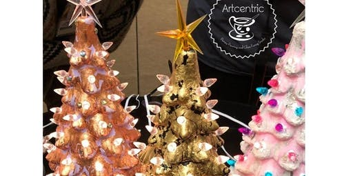 Silver, Gold & Glitter Mixed Media Tree Painting! (12-21-2019 starts at 5:00 PM)