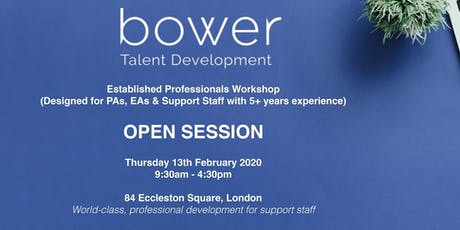 Established Support Staff Professionals - Open Session tickets