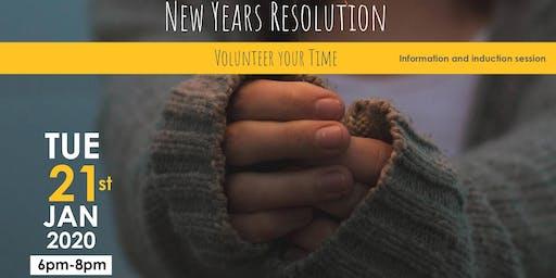 New Years Resolution Volunteering Induction Workshop
