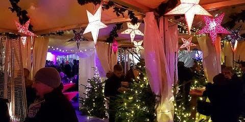 Der Nikolaus beim Glühwein-Festival im Bogenhausener Weihnachtszauberwald