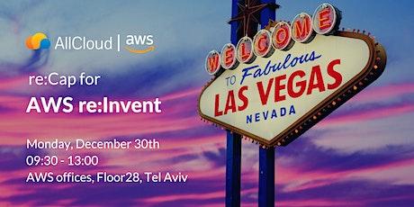 AWS re: Invent 2019 ReCap tickets