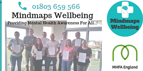 MHFA England Adult Two Day Mental Health First Aid. With Mindmaps Wellbeing tickets