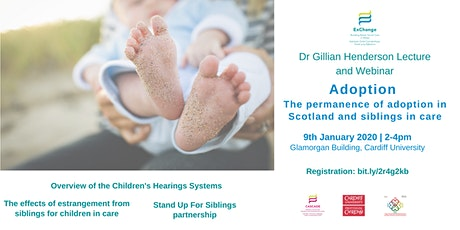 Adoption Lecture: The permanence of adoption in Scotland & siblings in care tickets