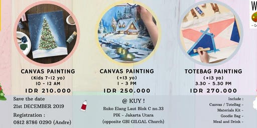 CANVAS PAINTING WORKSHOP for Kids