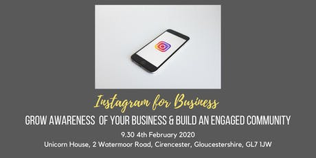 Instagram Training - discover how to increase awareness of your business tickets