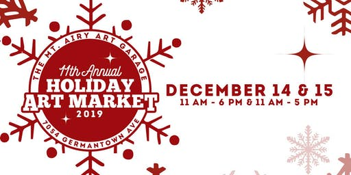 The Mt. Airy Art Garage 11th Annual Holiday Art Market 2019