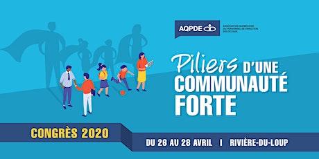 Congrès 2020 de l'Association québécoise du personnel de direction des écoles billets
