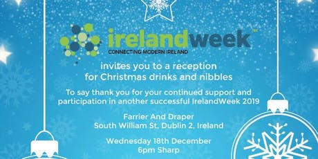 IrelandWeek 2019 Christmas Drinks ( DUBLIN )- Weds 18th Dec. tickets