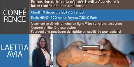 Conférence de Laetitia Avia billets