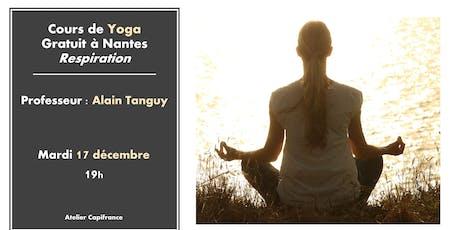 Cours de Yoga gratuit - Relaxation billets