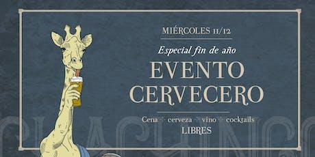 Evento Cervecero, Especial fin de año en Chachingo Arístides entradas