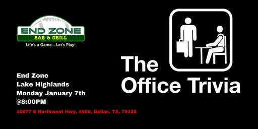 The Office Trivia at End Zone Lake Highlands