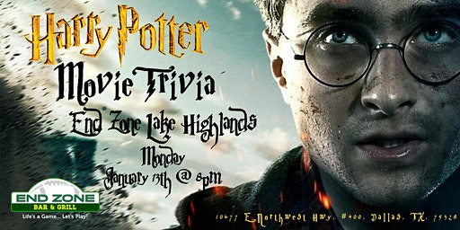 Harry Potter Movies Trivia at End Zone Lake Highlands