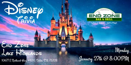 Disney Movie Trivia at End Zone Lake Highlands