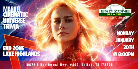 Marvel Cinematic Universe Trivia at End Zone Lake Highlands tickets