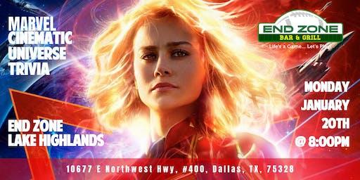 Marvel Cinematic Universe Trivia at End Zone Lake Highlands