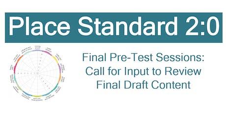Place Standard 2:0 - Final Pre-Testing Session - Edinburgh tickets