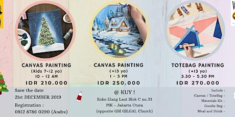 TOTEBAG PAINTING WORKSHOP for Teens & Adults tickets