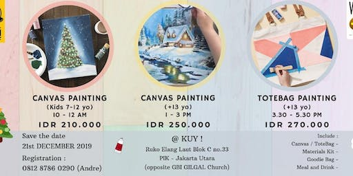 TOTEBAG PAINTING WORKSHOP for Teens & Adults